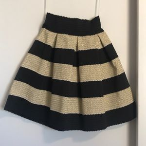 Gold and black cocktail skirt